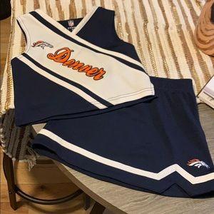 Denver Broncos cheerleading uniform